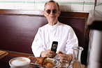 "Breakfast at Pastis puts actor and photographer Joel Grey ""in a good mood."""