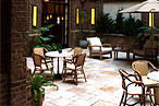 Locanda Verde's courtyard
