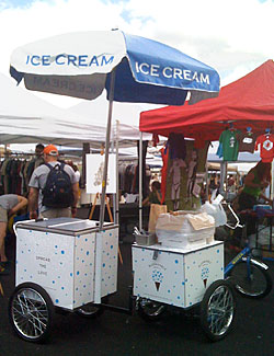 Blue Marble Debuts Ice-Cream Trike on Governors Island