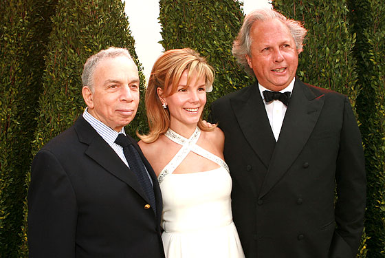 Carter, his wife, and Newhouse at the <i>Vanity Fair</i> Oscar party in 2006.