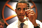 """Mmmm ... I sure do love beer,"" thinks Barack Obama."