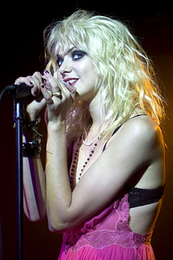 Momsen performing at her party.