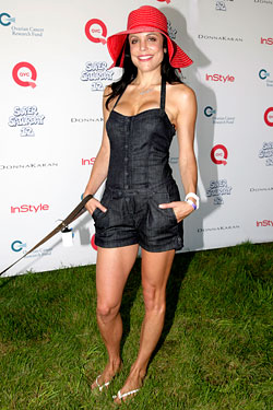 "Frankel at a previous Hamptons event. We just love <A href=""http://nymag.com/daily/fashion/2009/08/bethenny_frankels_romper_room.html"">this denim romper</a>."