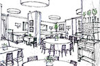 The new Caf&amp;#233; Boulud, rendered.