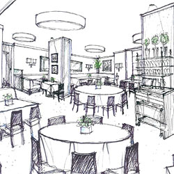 The new Caf&#233; Boulud, rendered.