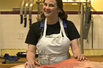 Watch Julie Powell Butcher a Lamb