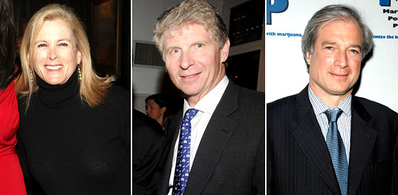 Leslie Crocker Snyder, Cyrus Vance Jr., Richard Aborn.