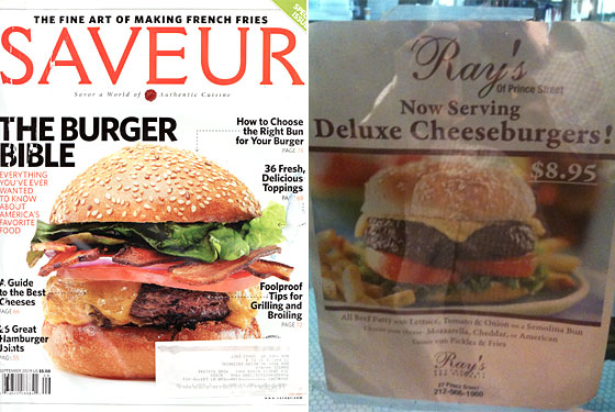 Burgvertising: Saveur and Ray&#8217;s Use Burgers As Bait