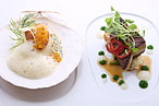 Aureole's Parallel Peach Pairing Is Like Surf-'n'-Turf