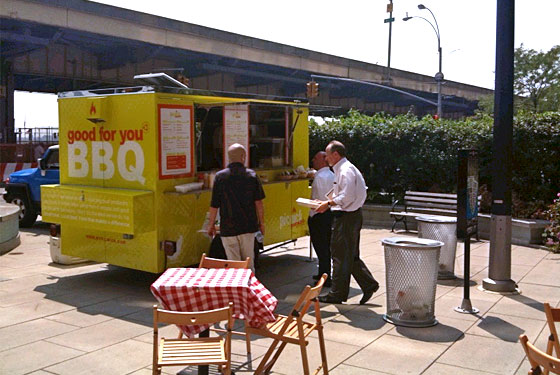 The Smoked truck at its old location.