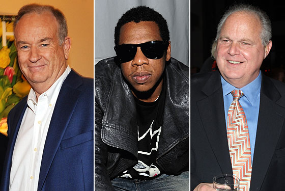 Bill oreilly and rush limbaugh do their part to promote blueprint 3 jay z took a few shots at some old targets on his vulture disappointing new single off that and now those targets are predictably firing back malvernweather Gallery