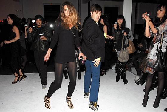 Erin Wasson at her party last season.