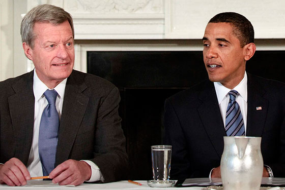 Max Baucus and Obama will take your questions now.