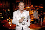 Andr&amp;#233; Balazs at his bar.