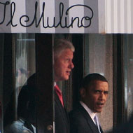 Obama at Il Mulino