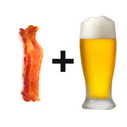 20090916 baconplusbeer 250x250 Bacon and something else