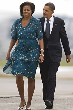 Barack and Michelle leaving New York today.