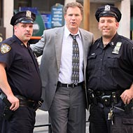 See Will Ferrell, Eva Mendes, and Mark Wahlberg Shooting The Other Guys