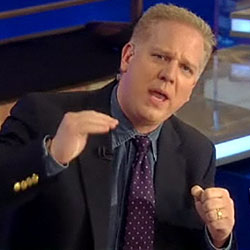 Glenn Beck discussing health-care reform Monday.
