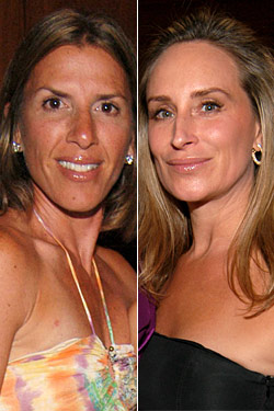 Jennifer Gilbert, left, and Sonja Morgan.