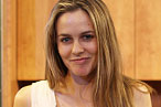 Alicia Silverstone at her cooking demo at the New York City Wine &amp; Food Festival.