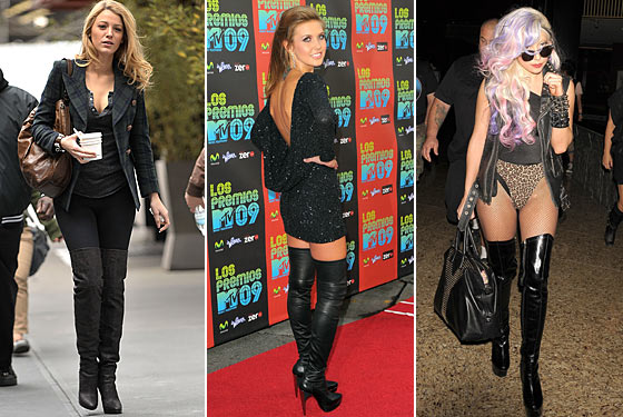 Fashionista: Trending: Over The Knee Boots