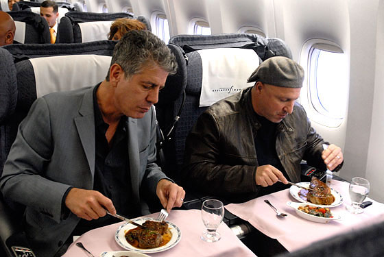 Tony Bourdain and Tom Colicchio lay on some first-class abuse.