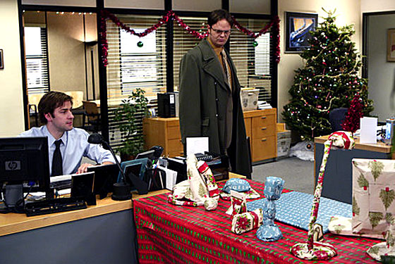 whether its tobys haplessness stanleys crustiness or creeds creeping sadism they populate the background with flavor and color without overly - The Office Christmas