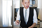 Jason Wu practices making a pie in anticipation of his lesson with François Payard.