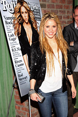 Shakira's hair extensions, however, cannot be trusted.