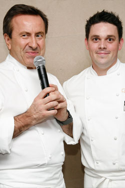 Daniel Boulud and Gavin Kaysen together last month.