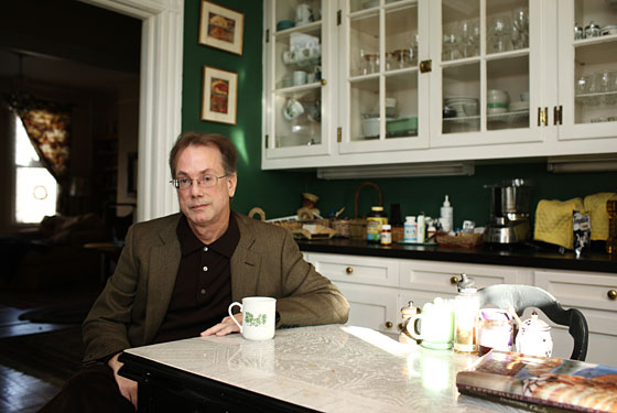 William Grimes at home in Astoria.