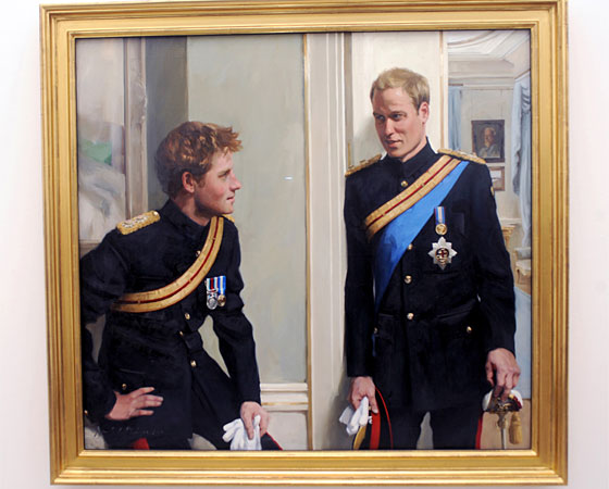 prince william and prince harry official portrait. Both Prince William and Prince