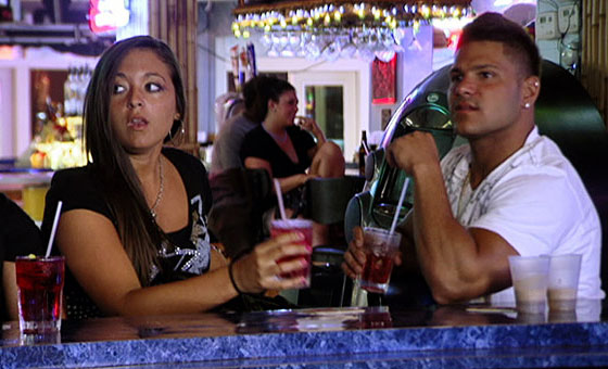jersey shore ronnie and sammi fight