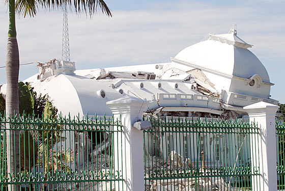 The collapsed presidential palace has become a symbol of the leadership vacuum in Haiti.