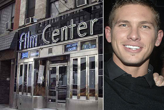 Model Adam Senn Gives Film Center Café a Makeover