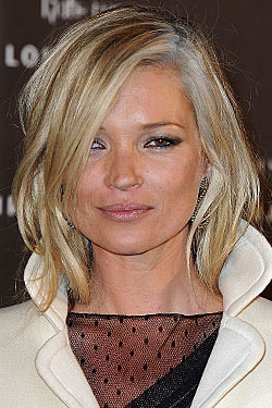 Kate Moss Dyed Her Hair With Gray Streaks