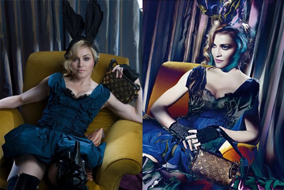 'Before' Photo Confirms Photoshop at Play in Madonna's Louis Vuitton Campaign