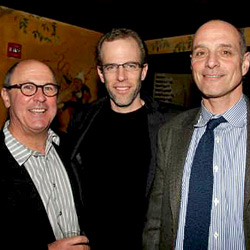 Dan Barber (center) with Food Inc. producers Robert Kenner and Eric Schlosser