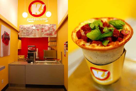 K! Pizzacone Is Now Serving, Yes, Pizza in a Cone
