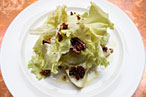 Pear salad with mountain Gorgonzola and escarole, the Breslin.