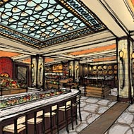 Rendering of Plaza Food Hall