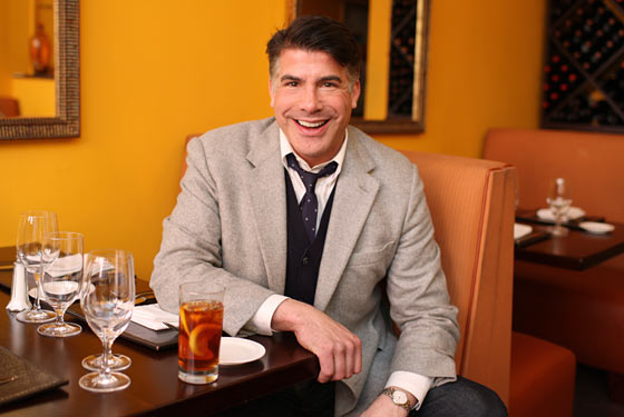 Bryan Batt has an iced tea at Caffe Grazie.