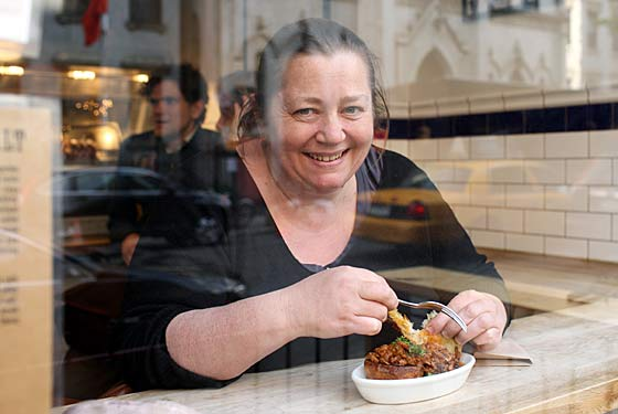 Jenkins tastes the ragu at Porchetta.