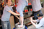 Ryan Skeen Doing a Keg Stand
