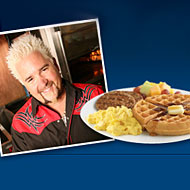 Guy Fieri Wants to Give You a Waffle Iron at 5 a.m.