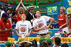 Joey Chestnut Eats 68 Hot Dogs; Kobayashi Downs 68.5 [Updated]