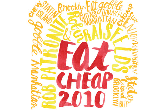 The 2010 Cheap List; Where Chefs Eat in the Neighborhood