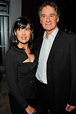 Phoebe Cates and Kevin Kline at Vapiano