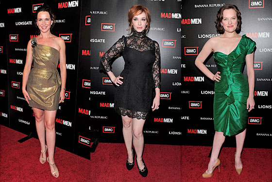 Janie Bryant, Christina Hendricks, and Elisabeth Moss.